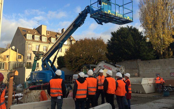 La visite chantier à Poissy en photos – 23 novembre 2017