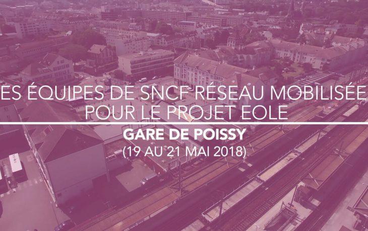 Les équipes de SNCF réseau mobilisées pour le projet Eole en Gare de Poissy