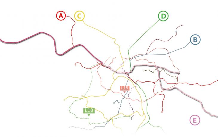 Découvrez le tracé de la nouvelle ligneE