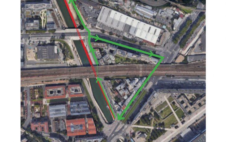 Fermeture temporaire de l'accès cycliste et piéton quai de l'allier