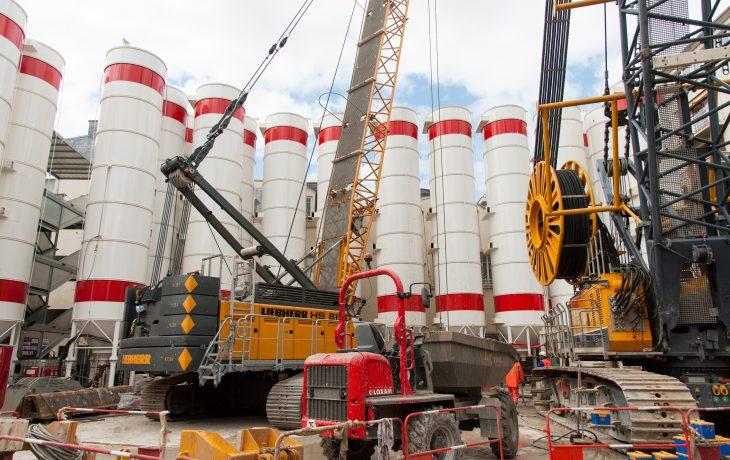 Construction des parois moulées du puits Gouraud
