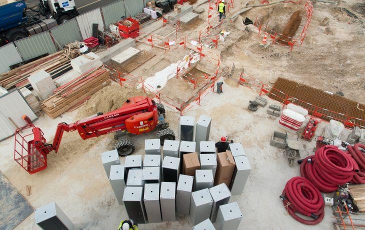Travaux préparatoires au creusement dupuits Abreuvoir