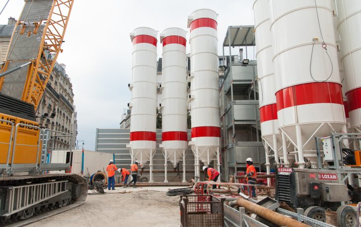 Installation de silos complémentaires sur le puits Gouraud