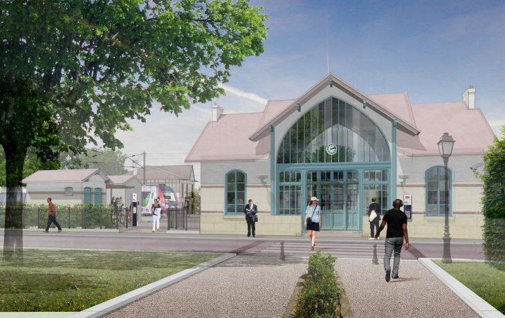 L'actualité du chantier de la gare deVillennes sur Seine