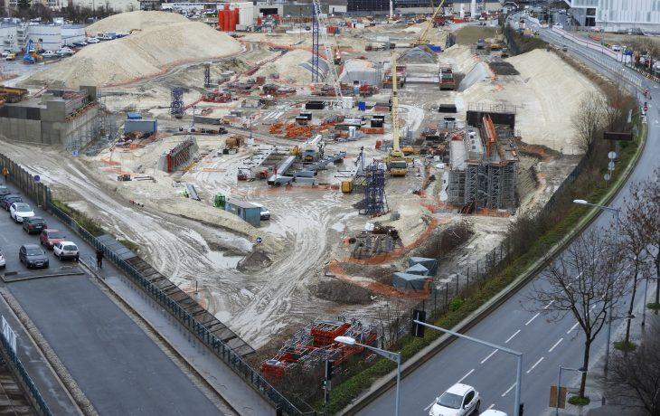Le chantier de la gare de Nanterre en 2017 en images