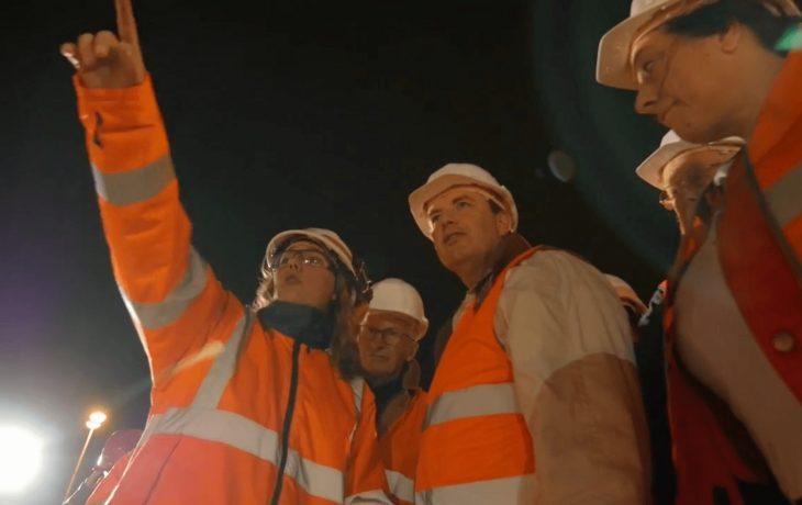 La visite chantier à Poissy en vidéo