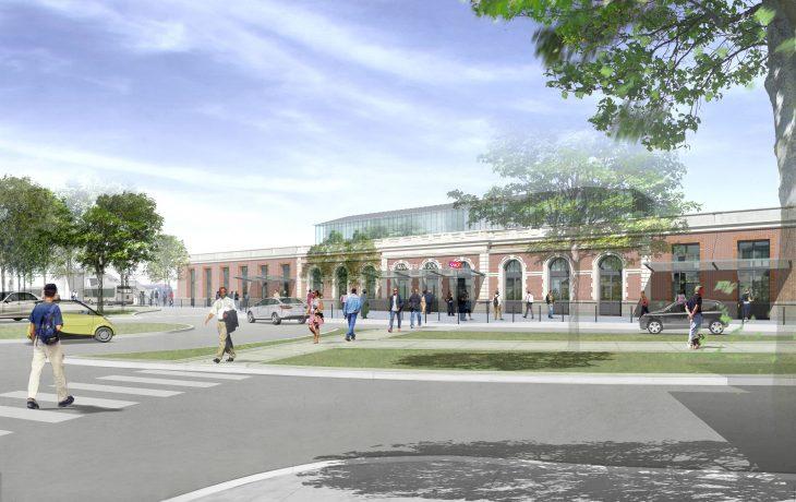 Les travaux Eole dans ma gare de Mantes-la-Jolie