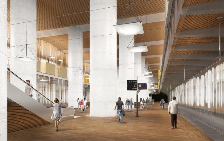 Les travaux de la future<br />gare La Défense – CNIT