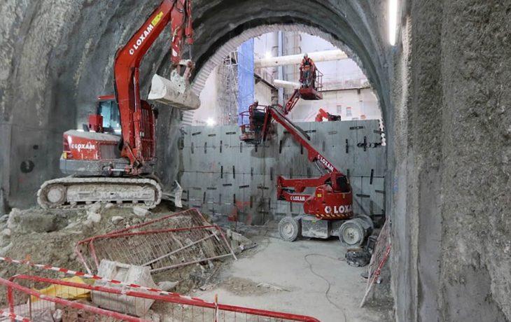 Le raccordement des deux tunnels 40mètres sous terre à Courbevoie