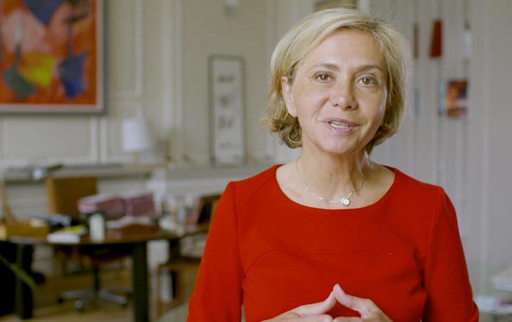 Valérie Pécresse, présidente de la région Île-de-France présente le projet Eole