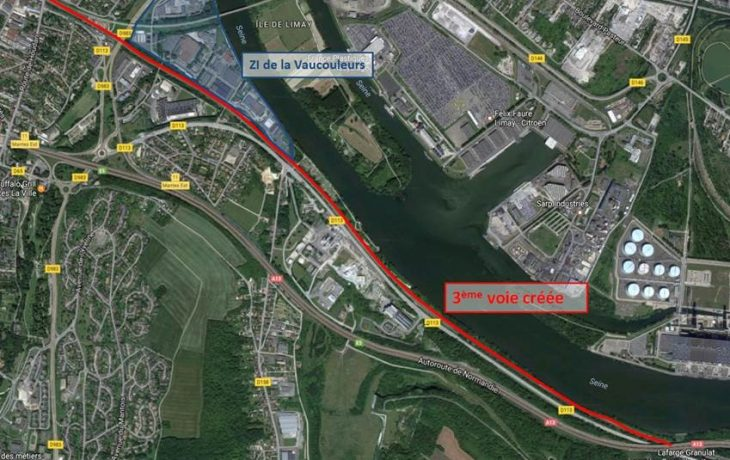 Les travaux de la nouvelle voie ferroviaire entre Guerville et Mantes-Station ont été présentés aux entreprises de la Zone de la Vaucouleurs