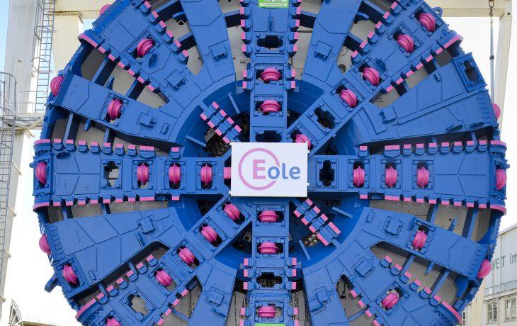 Virginie, le tunnelier du projet Eole arrive à Paris