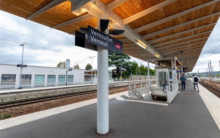 Les travaux Eole dans ma gare de Vernouillet-Verneuil