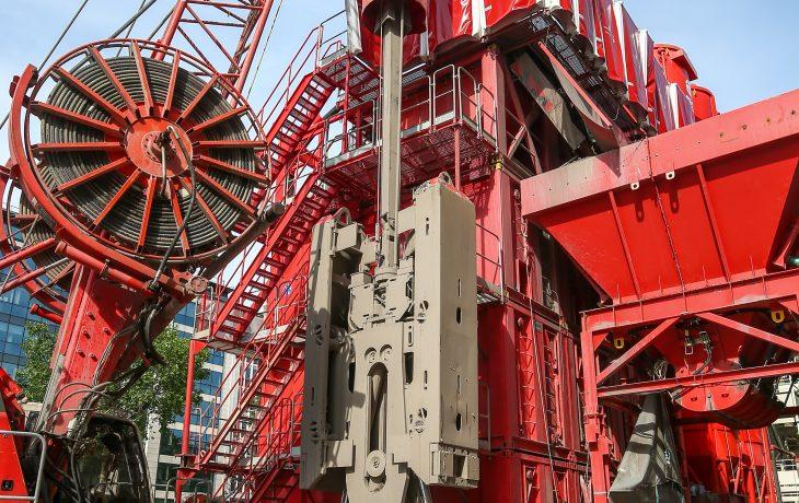 Évacuation du matériel de chantier sur le puits Hôtel-de-Ville