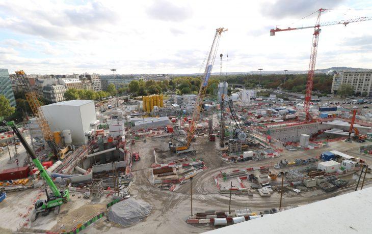 Les travaux de la Porte Maillot en images : la gare commence à se dessiner