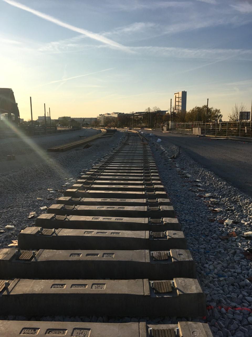 Vue des premiers rails