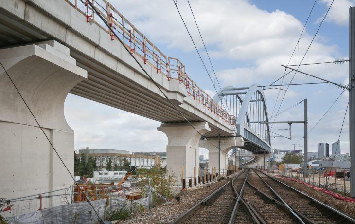Le chantier du pont ferroviaire entre Nanterre et Bezons – Carrières-sur-Seine en images