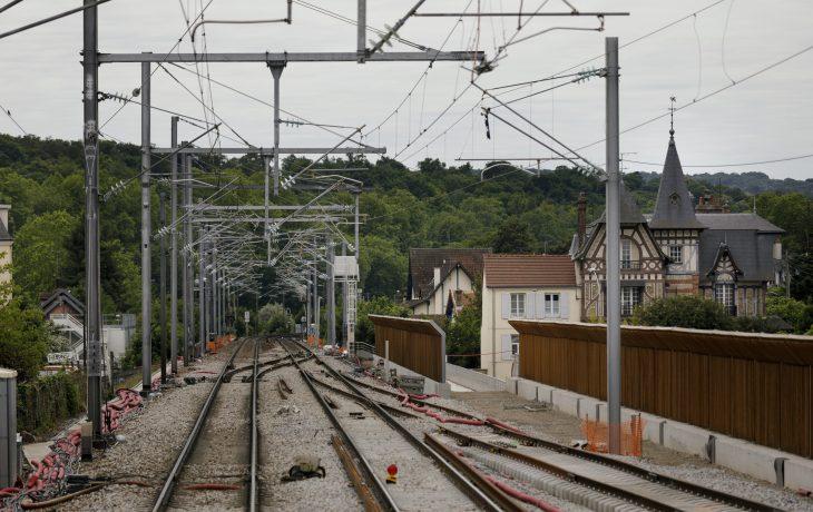 Nouveau passage souterrain en gare de Poissy : les travaux de sécurisation du cheminement piétons commencent