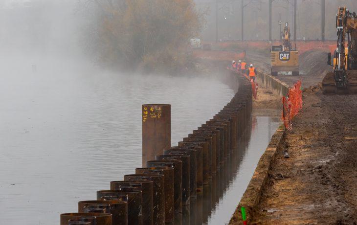 3ème voie : Jusqu'au 22 février 2020, des travaux de nuit tout le long de la voie.