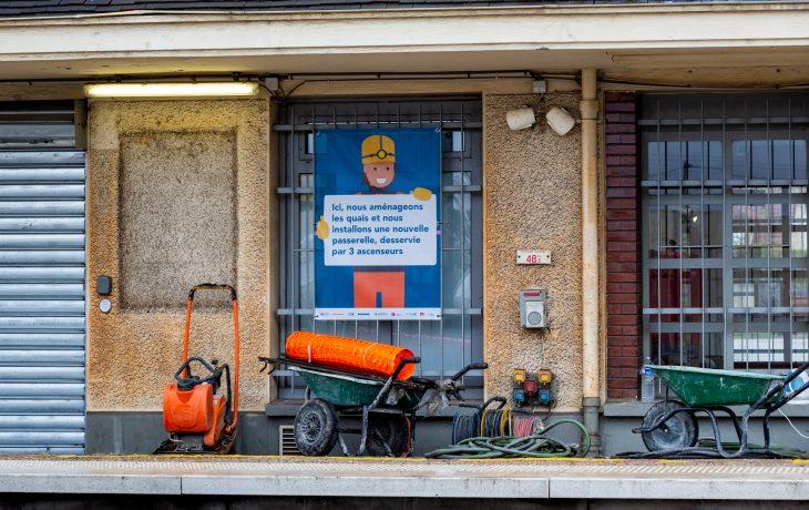 Les travaux Eole dans ma gare d'Épône –Mézières