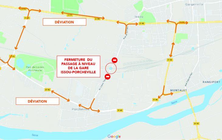 Travaux de raccordements des voies du nouveau site de garage aux voies commerciales du 23 Février au 23 mars 2020