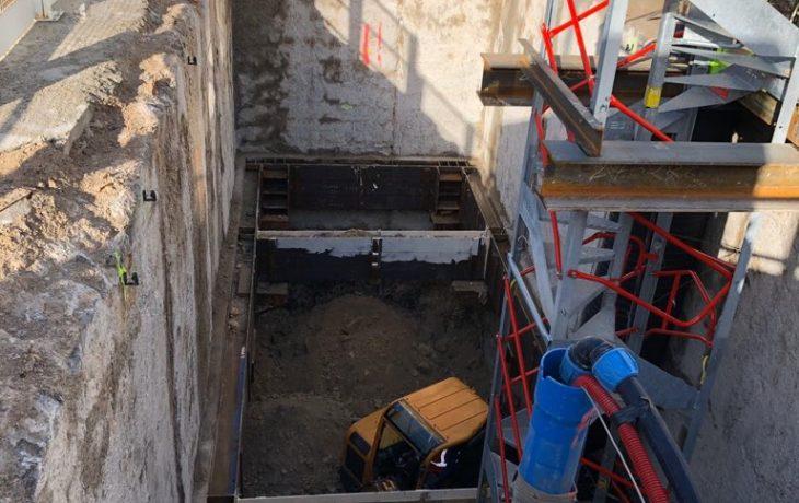 Terrassement intérieur du Puits Hôtel de Ville