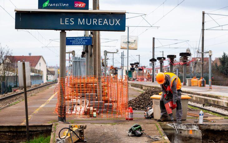 Reprise d'activités en gare de Les Mureaux depuis  lundi 4 mai