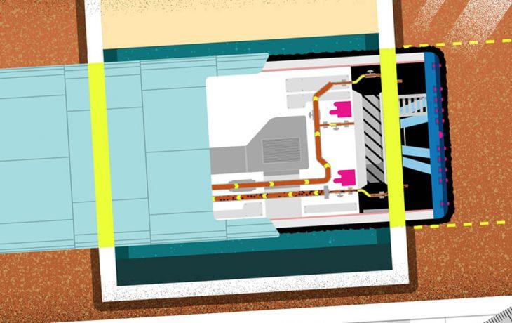 Les défis Eole : comment passer un tunnelier de 11 mètres de diamètre au milieu d'un puits, à 50 mètres sous terre ?