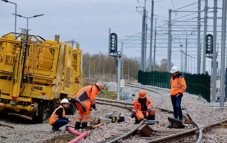 Travaux de finition sur le réseau ferroviaire, les nuits de cette semaine sur le site de garage d'Issou