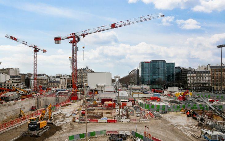 Porte Maillot Vue générale chantier