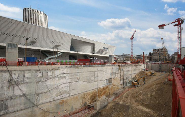 Porte Maillot Gare à ciel ouvert – réalisation des étages