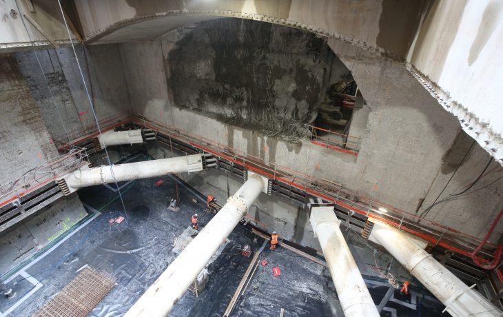 Porte Maillot – Puits Frontal – Début de la gare Souterraine