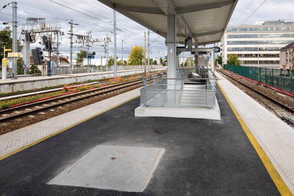 Nouvelle sortie souterraine depuis le quai Paris vers la gare routière sud