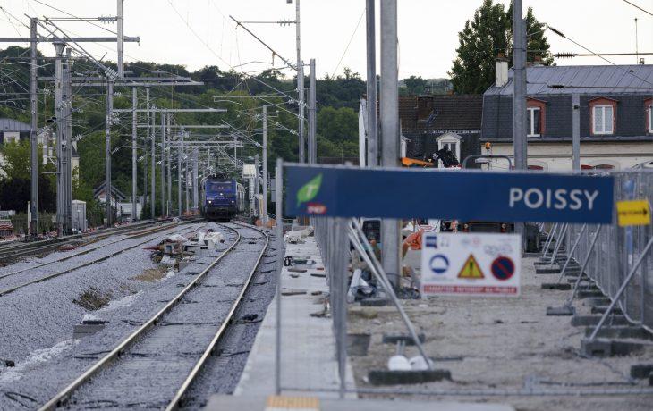 Les travaux Eole dans ma gare de Poissy