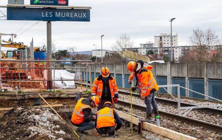 Les prochains week-ends travaux en gare de Les Mureaux
