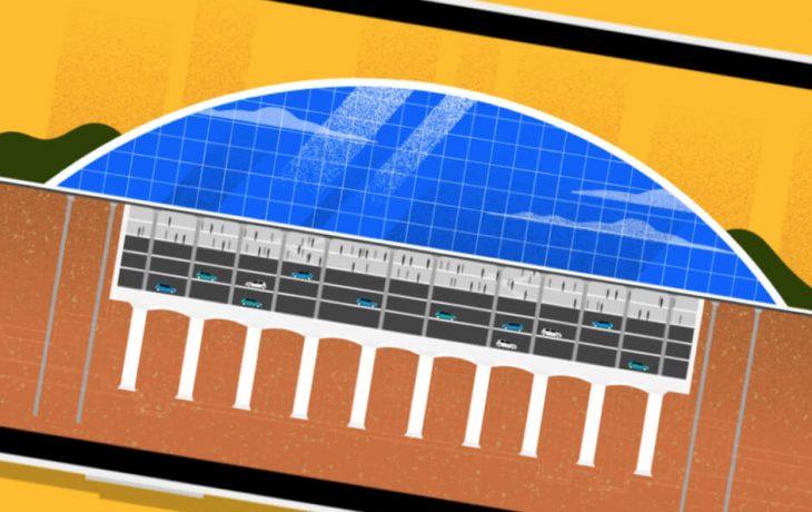 Les défis Eole : Comment créer une immense gare à 40 mètres sous terre en commençant par le plafond ?