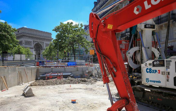 Évacuation et livraison d'engins de chantier sur le Puits Carnot
