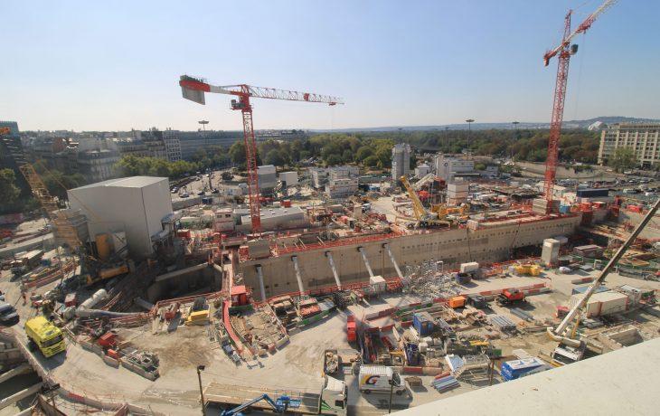 Retour en images du chantier de la future gare de la Porte Maillot