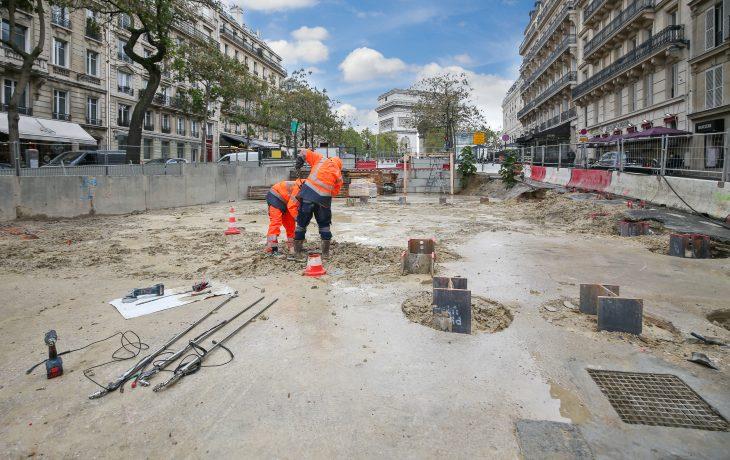 Terrassement du puits Carnot