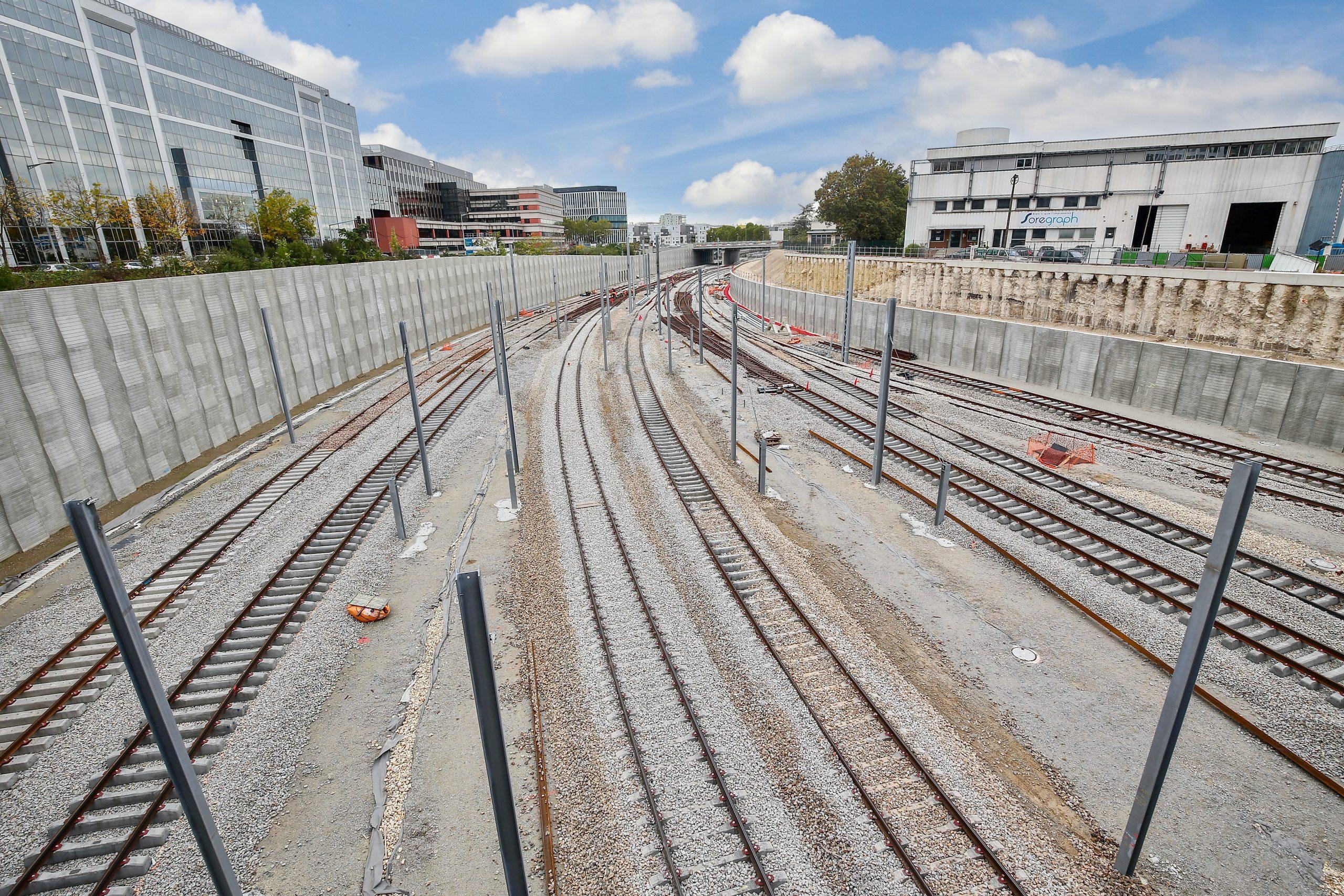 Rails en gare de Nanterre