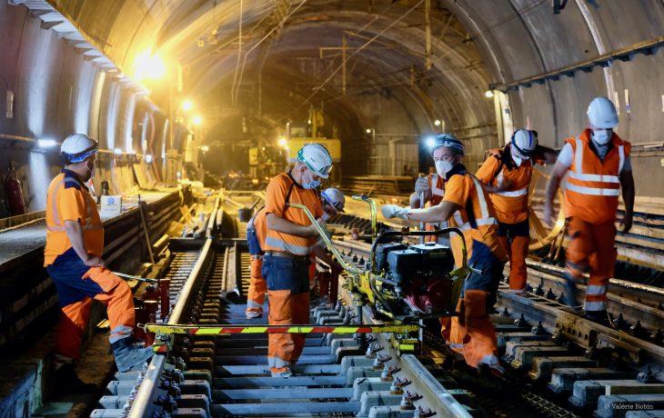 Les travaux Eole dans les gares d'Haussmann-Saint-Lazare et Magenta