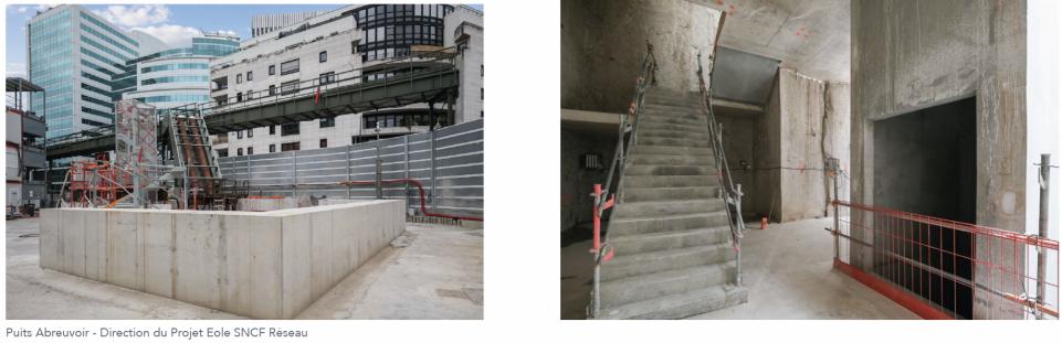 Travaux d'aménagement dans le puits rue Abreuvoir