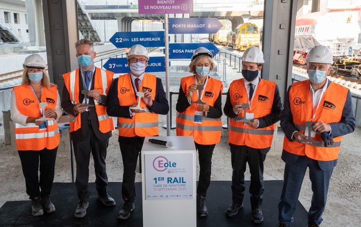 Premiers rails en gare de Nanterre