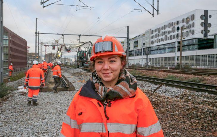 Les travaux ferroviaires sur Rosa Parks avec Ségolène Dilly, responsable des travaux sur les voies