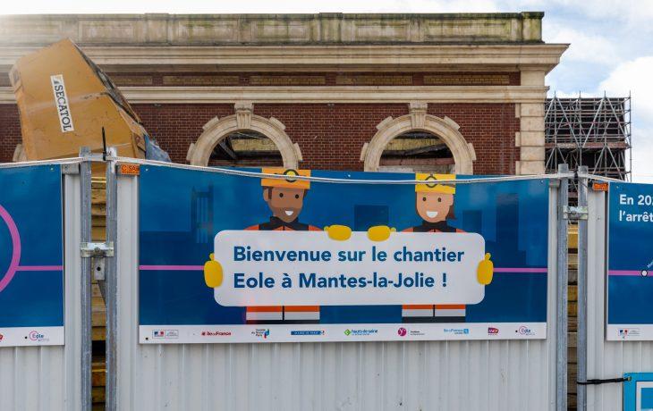 Les travaux du bâtiment voyageurs coté Mantes-la-Jolie en images