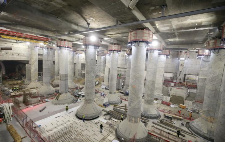 Gare de La Défense – Fin du terrassement