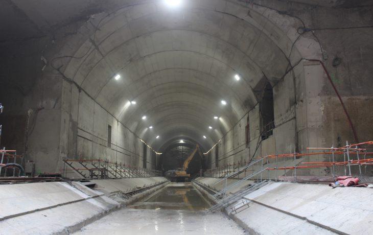 Le génie civil de la partie souterraine de la gare est terminé – une belle étape importante