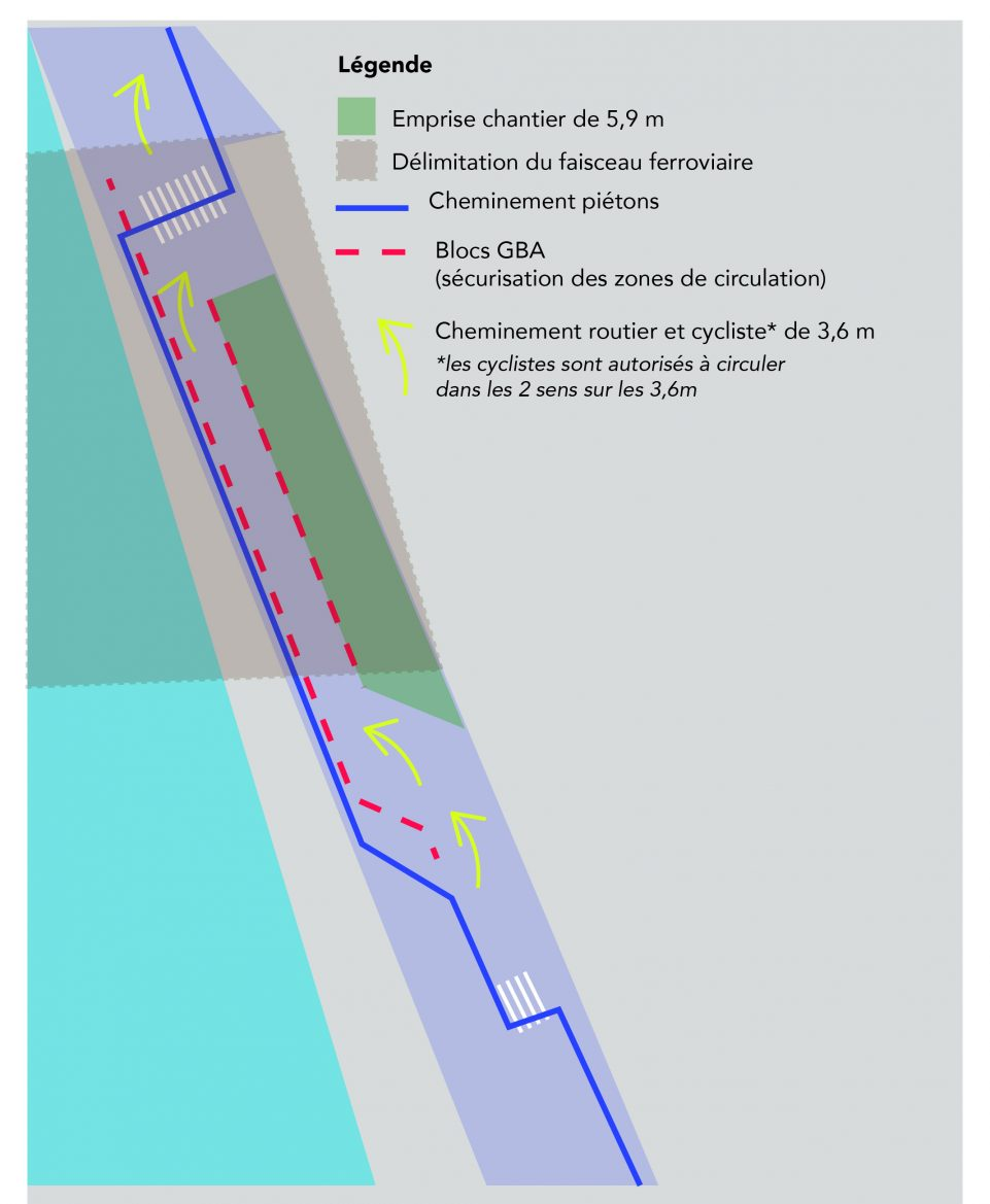Carte de la circulation basculée sur le quai de la Charente