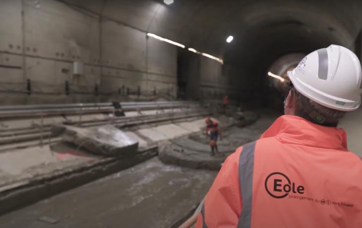 Virginie, le tunnelier du projet Eole reprend son creusement vers Paris