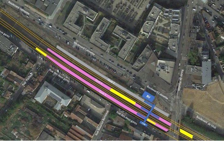 Les travaux en gare de Mantes Station et le long des voies continuent cet été